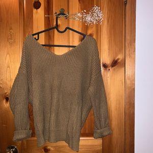 Sweaters - Knit Sweater w/ Twisted Back